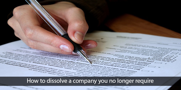 Dissolve, Strike off a limited company